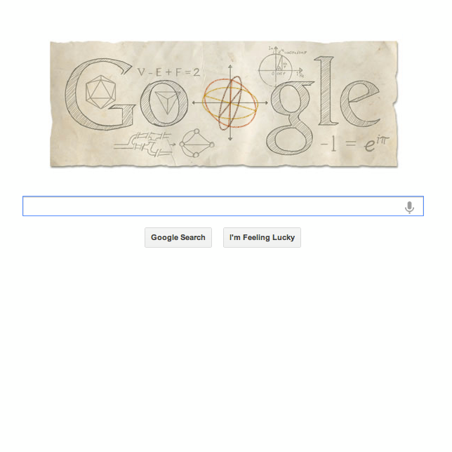 euler tribute on google